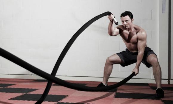 Тренировка с канатом